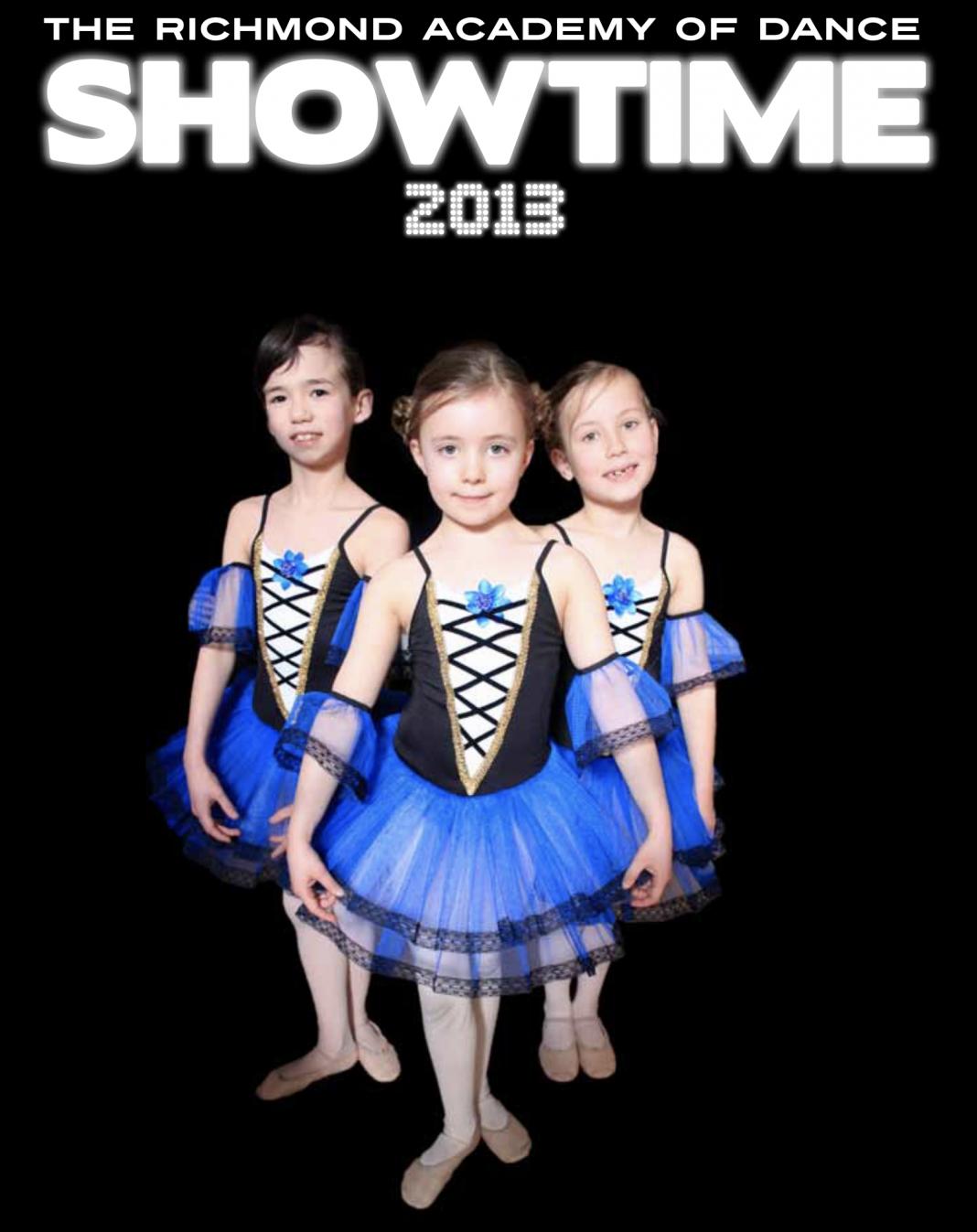 Showtime 2013 dance academy programme