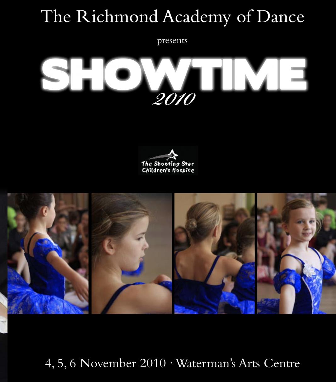 Showtime 2010 dance academy programme