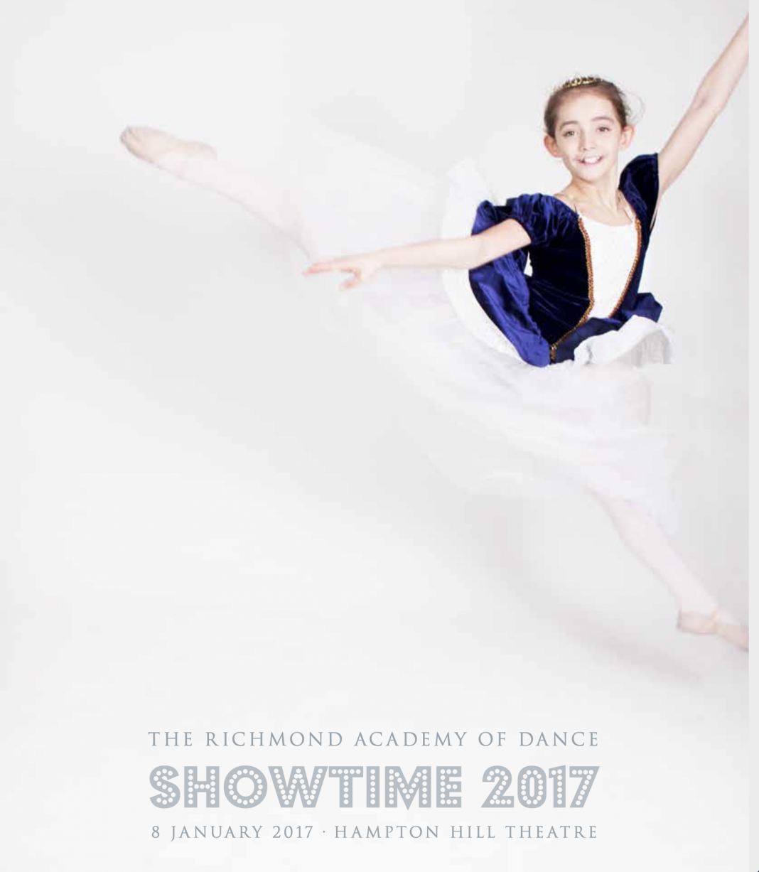 academy Showtime 2017 dance programme